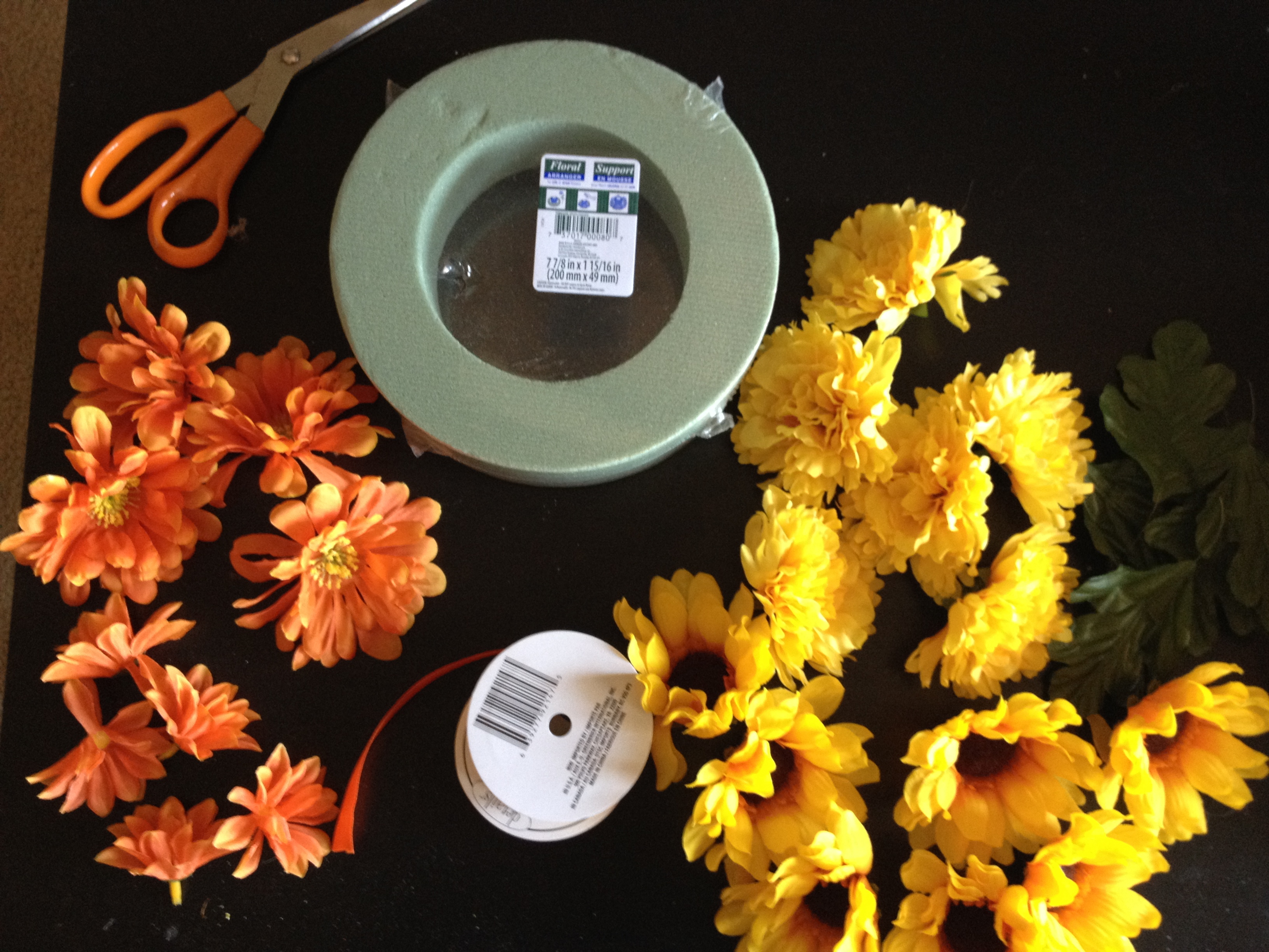 Diy Floral Circle Gather Supplies