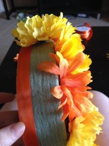 DIY floral ring - side flowers