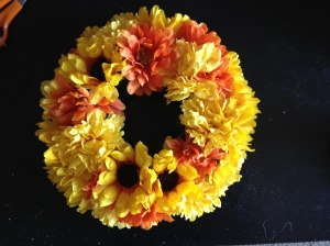 DIY Floral Ring- Complete centerpiece