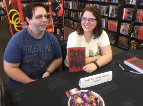 Undead Rising book signing at Madness Games